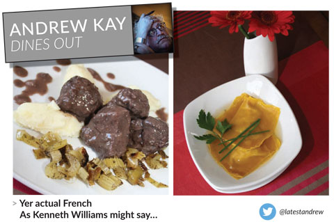 The Latest Magazine, Andrew Kay Dines Out, New Steine Bistro Review