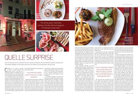 Portfolio Magazine June 2016 New Steine Bistro Business Lunch Review