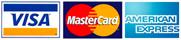Amex Mastercard Visa logos