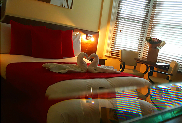 Swan towels! Our Deluxe Room