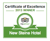 Trip Advisor 2013 Certificate of Excellence for The New Steine Hotel