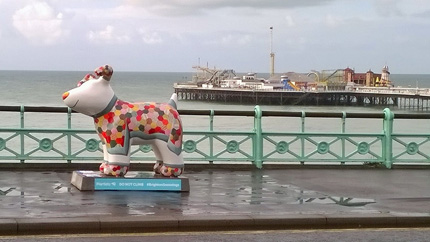 Snowdog Patch on Brighton Seafront at New Steine