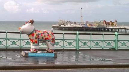 Snowdog Patch on Brighton Seafront at New Steine